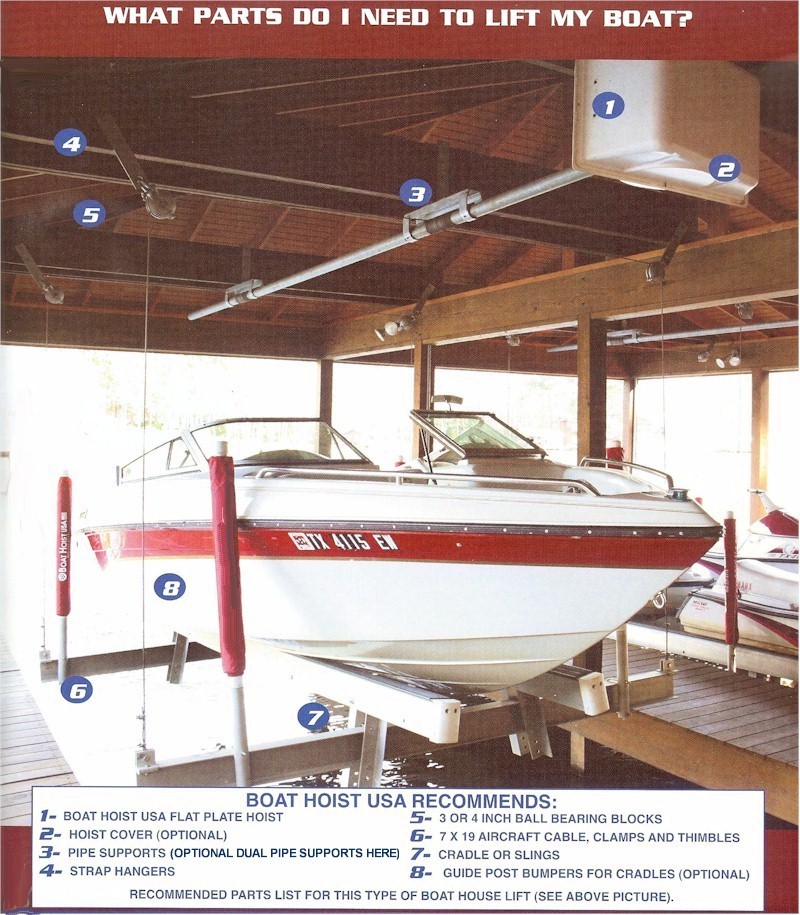Boat Hoist USA boathouse lifts from Boat Lifts 4 Less Ph  318-286-9169